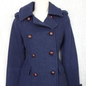 American Eagle Outfitters Navy Blue Peacoat Jacket